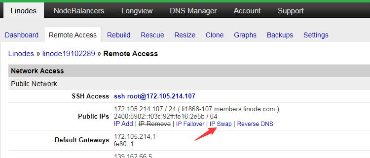 linode一键更换IP