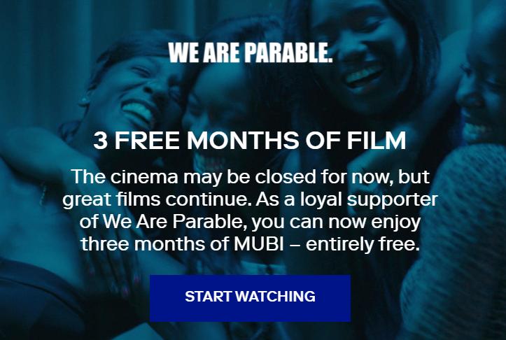 mubi免费三个月账号申请