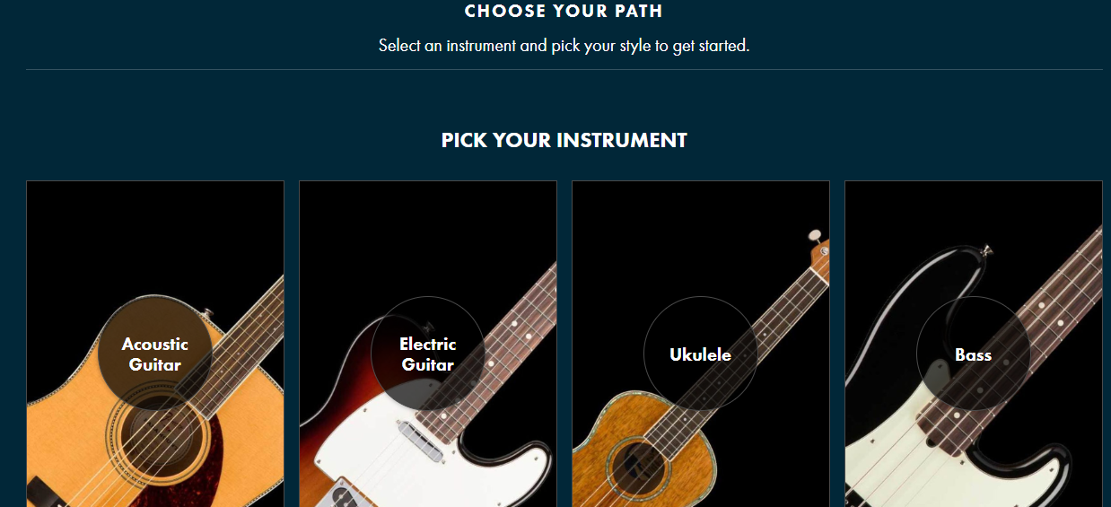 Fender提供三个月免费的吉他,贝斯,尤克里里在线课程
