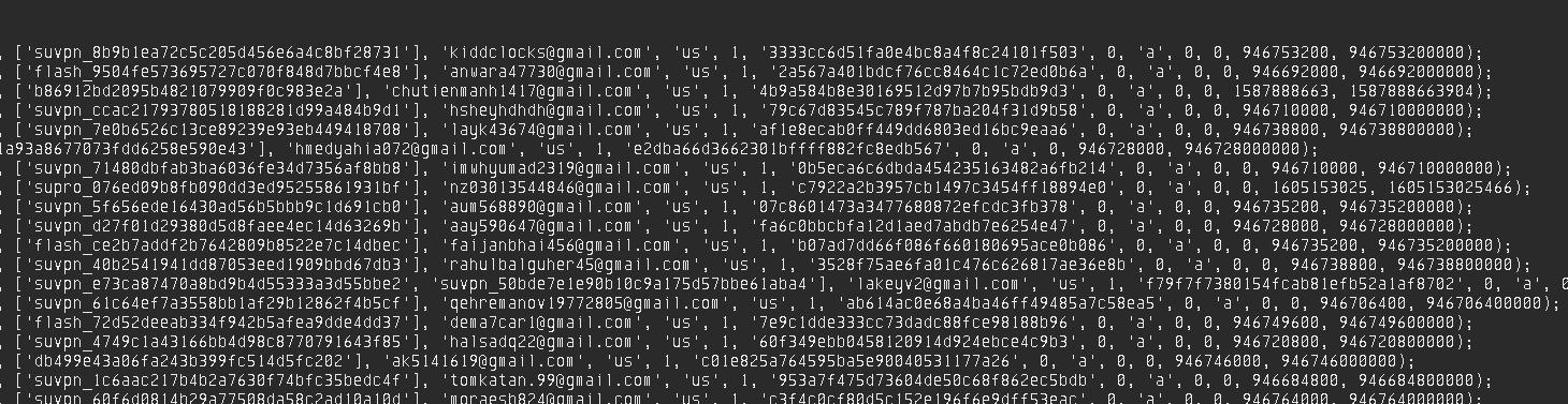 知名安卓VPN软件用户信息泄漏