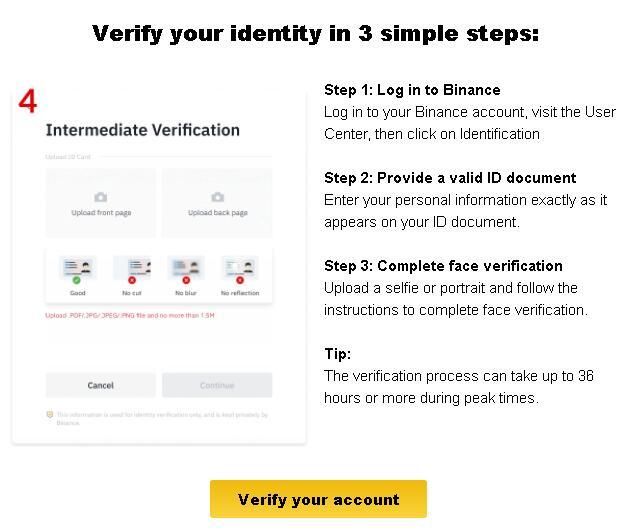 币安要求在8月19日前完整账户的kyc身份验证,否则提币限额将降低到0.06BTC